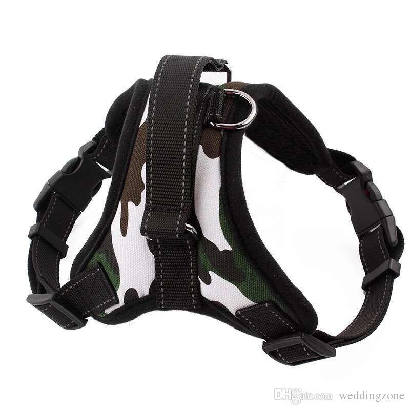 Einstellbare Hundegeschirr Weste Kragen Leinwand Großen Hund Seil Kragen Handschlaufe Pet Traktion Seil Für Große Hund