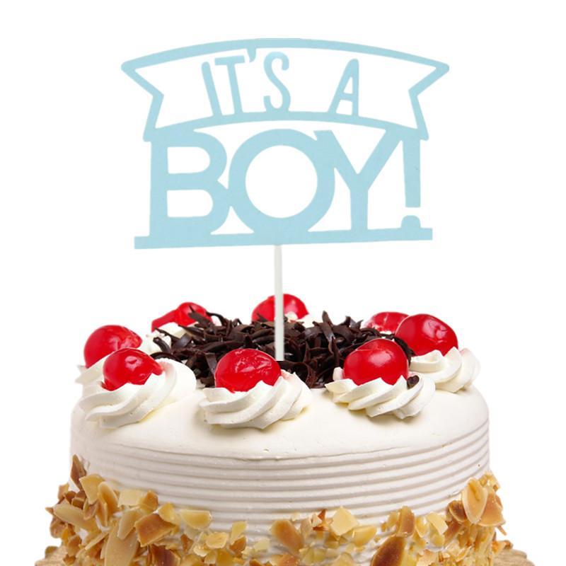 Grosshandel 20 Teil Los Sein Ein Junge Kuchen Topper Flaggen Kinder