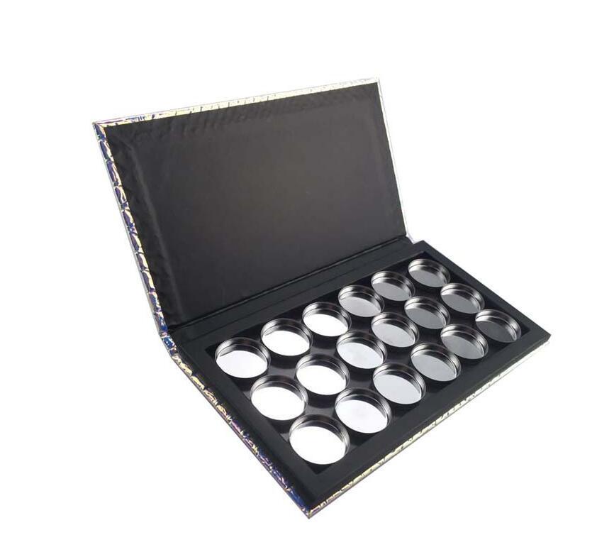 -Чешуи Patterns Новый горячий макияж Pallete Eye Shadow Palette Empty Magnetic Блеск Eyeshadow Дело Косметические контейнеры
