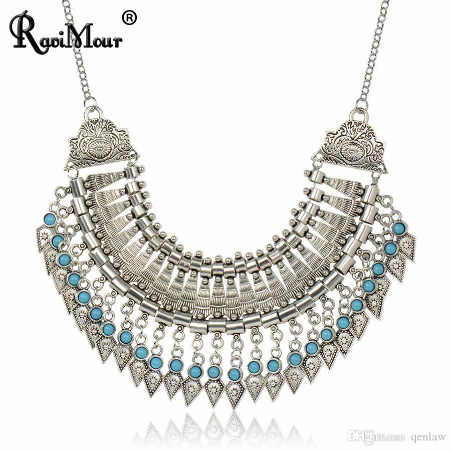 6d726a79d8 Wholesale- Multi-Layers Necklaces & Pendants Boho Gypsy Ethnic Vintage  Statement Choker Maxi Collares Collier for Women Turkish Jewelry