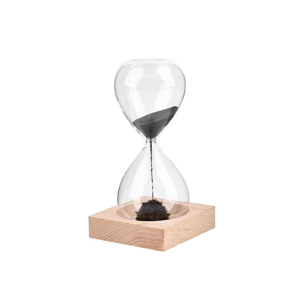 Best Wooden Base Magnet Craft Hourglass Hand Blown Sand Timer For ...