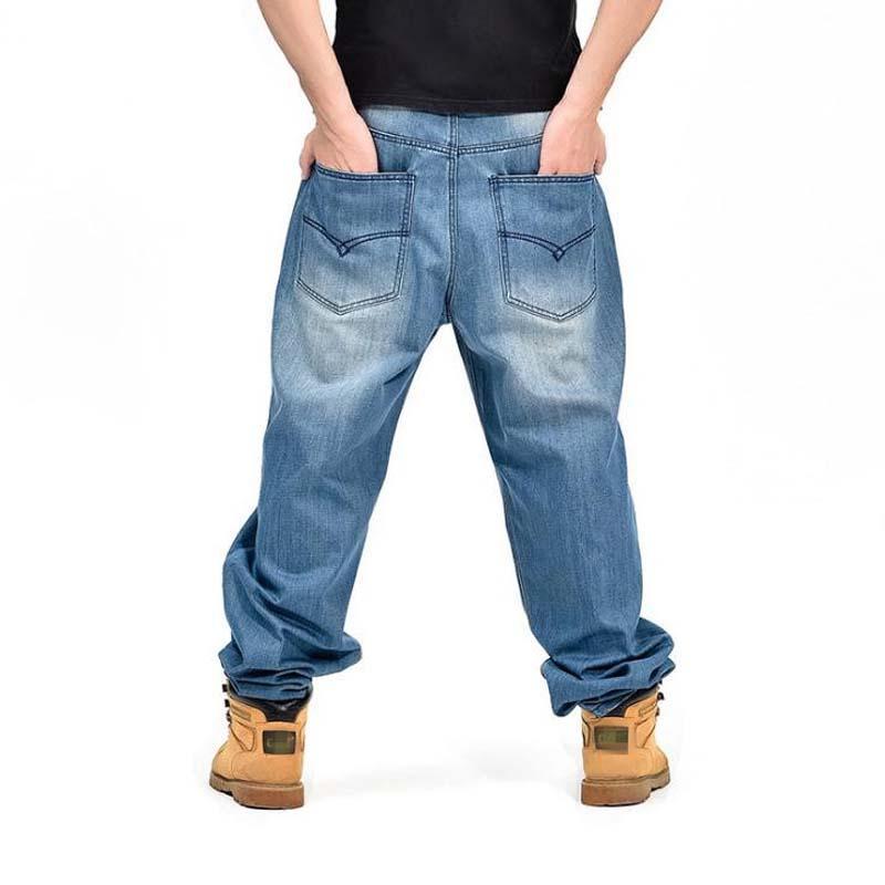 Acheter Jeans Pour Hommes Baggy Hip Hop Designer Marque Skateboard Homme  Pantalon Lâche Style Plus Taille 30 46 True HipHop Rap Jeans Garçons  Pantalons De ... 758b5bacdd4