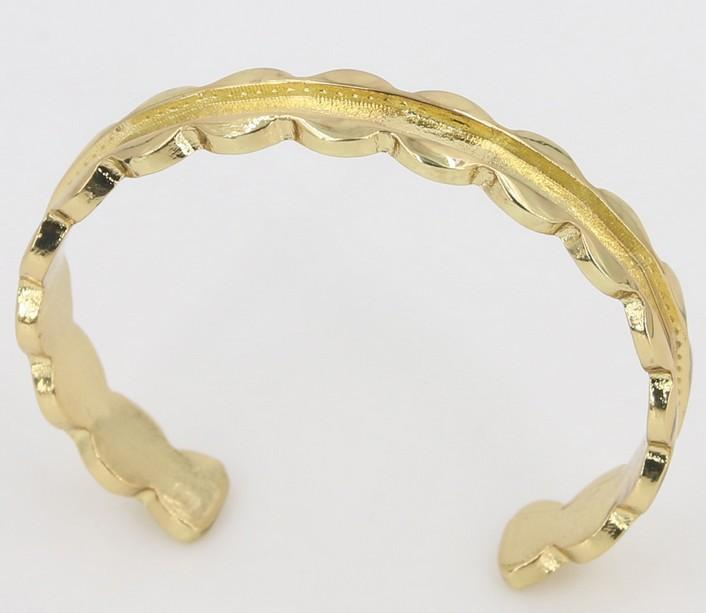 Hair tie bracelet nickle without black hair tie fashion new flower open cuff Bangle bracelet jewelry