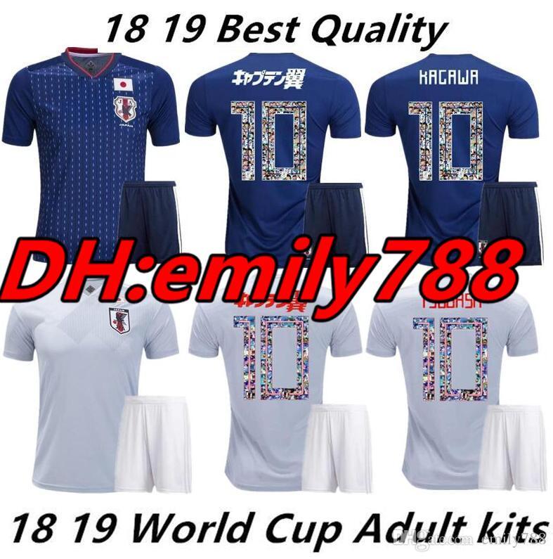 658aa53d0 2019 Japan Soccer Jersey Kit 2018 Cartoon Number Fonts 10 ATOM World Cup  Tsubasa KAGAWA ENDO OKAZAKI NAGATOMO HASEBE National Team Kit Maillot From  Emily788 ...