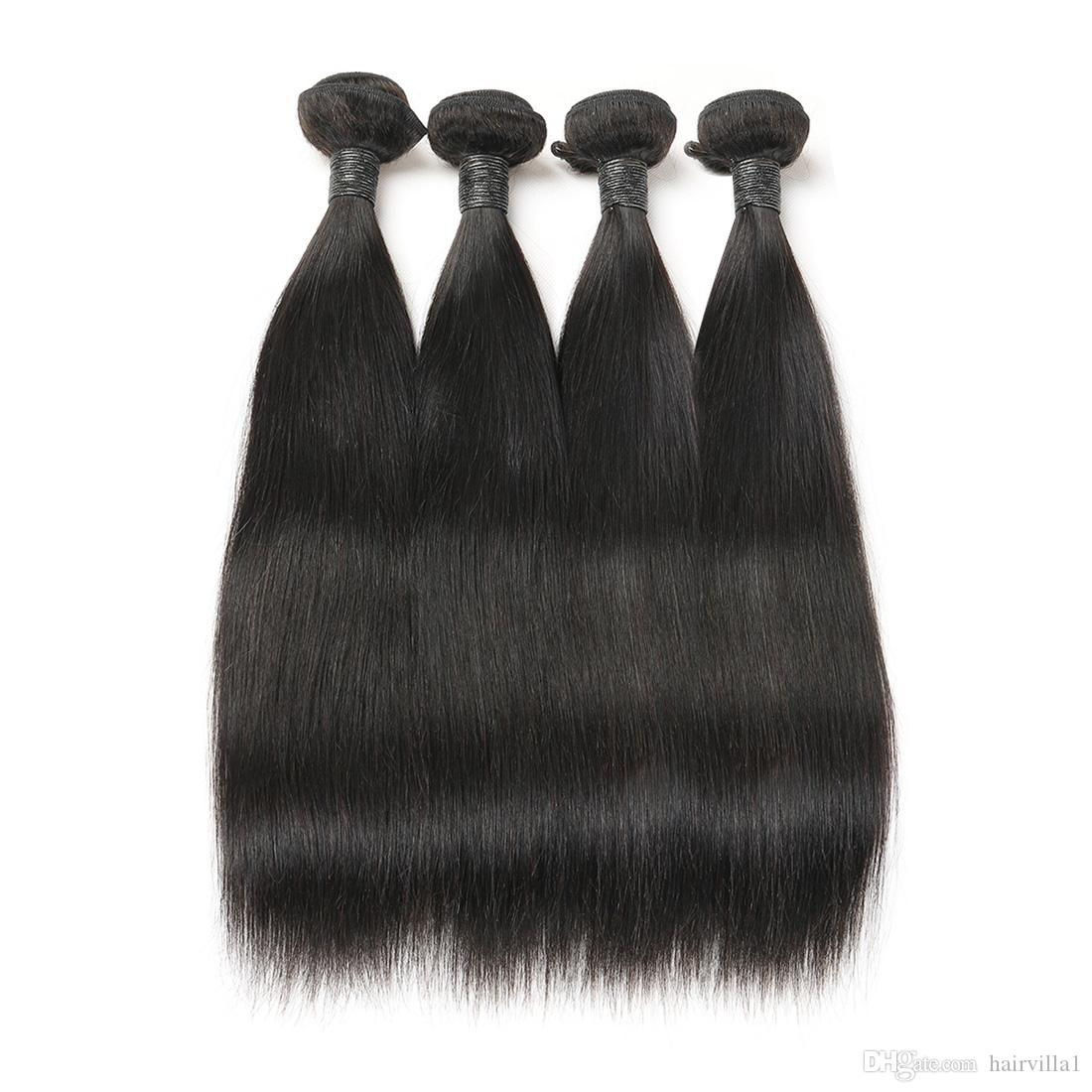 9a Indian Virgin Hair Straight 4 Bundles 100 Unprocessed Human Hair