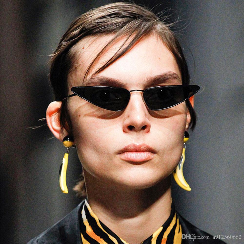 Trend 2018 Small Frame Cateye Sunglasses Women Water Drops