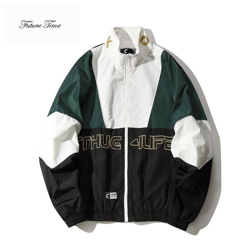 Compre Chaqueta Para Hombre Otoño Calle Suelta Abrigo Stand Patchwork  Hiphop Rompevientos Amantes Cremallera Pocket Chaquetas Streetwear WY069 A   63.51 Del ... ab32b510dc4