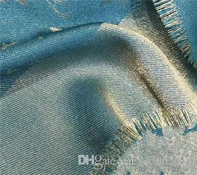 Brand New Cachecol Para as mulheres de Luxo Carta Padrão de lã de seda Cashmere fio de Ouro Designer Grosso Lenços Lenços Quentes Tamanho 140X140 CM de Qualidade Superior