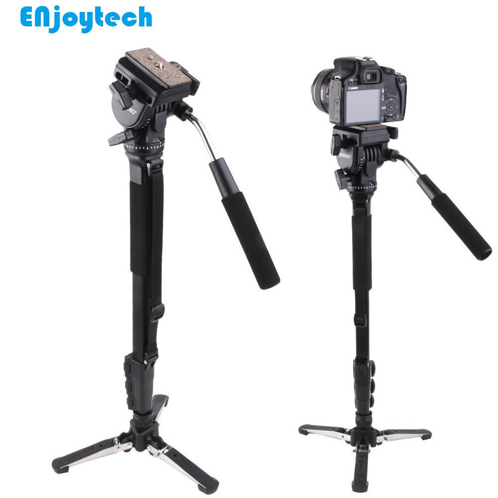 Professional Monopod With Hydraulic Pan-tilt Head Gimbal For Canon Nikon DSRL Cameras Unipod With Mini Tripod For Photography