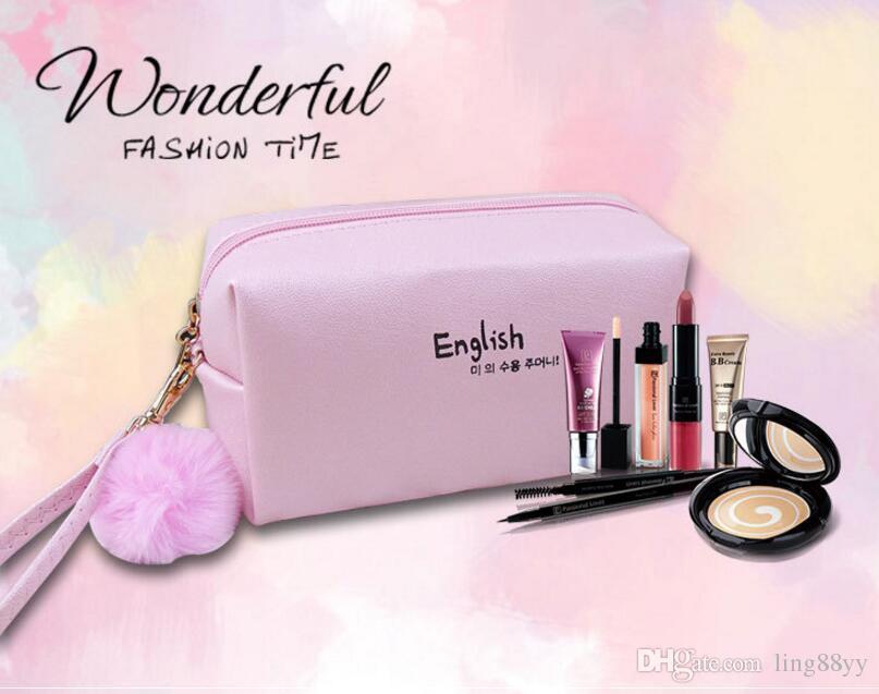 Yüksek Kalite Moda Kadınlar Makyaj çantası 7 Renkler Sevimli Mini Su Geçirmez Küçük Makyaj Çantası Kız Lady Kozmetik Çantası Taşınabilir ...