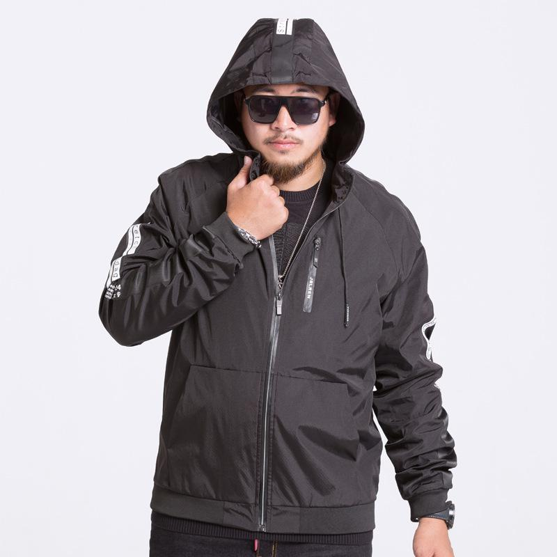 76f411a63 8XL 7XL 6XL Plus Size Men s Classic Hooded Bomber Jacket Spring Fashion  Parka Coats Men Waterproof Windbreaker Army Jaqueta JK86