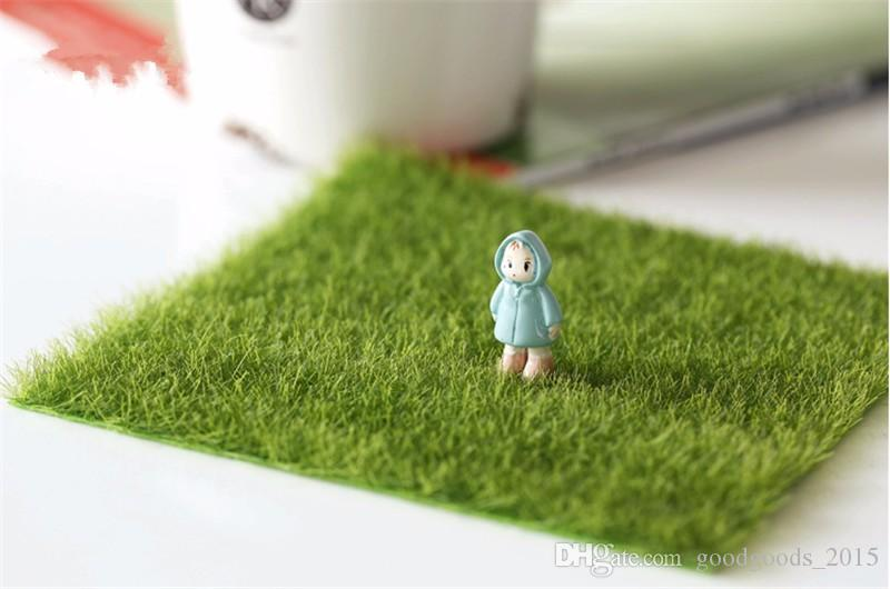 Fake Moss Miniature Garden Ornament DIY Mushroom Craft Pot Fairy Artificial Lawn Grass for Wedding Xmas Party Decoration c462
