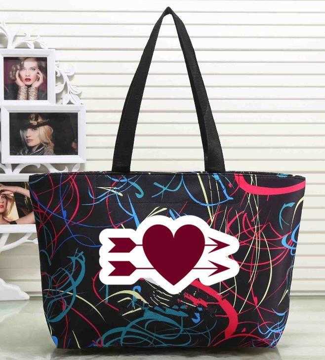 69d91c666c Handbags Shoulder Bags Women Love Handbags Large Capacity Travel Duffle  Striped Waterproof Beach Shoulder Bag Womens Handbags Handbags From  Qiaolei896