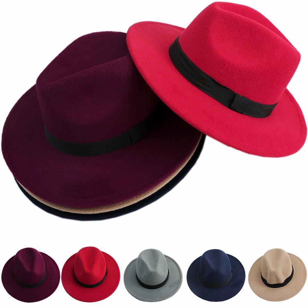 Acquista Uomo Donna Jazz Bowknot Duro Feltro Fedora Bowler Panama Cappello  Largo Cappellino Da Gangster A  36.83 Dal Wonderliu  4865b3b49321