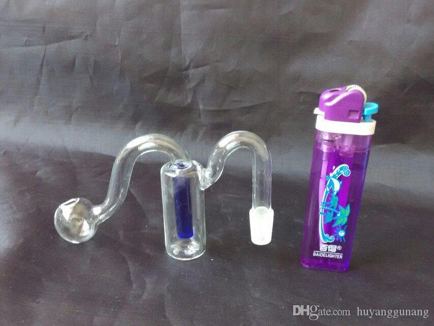 Double filtre m pot gros huile bangs en verre du brûleur en verre Les conduites d'eau huile fumante gratuit Rigs
