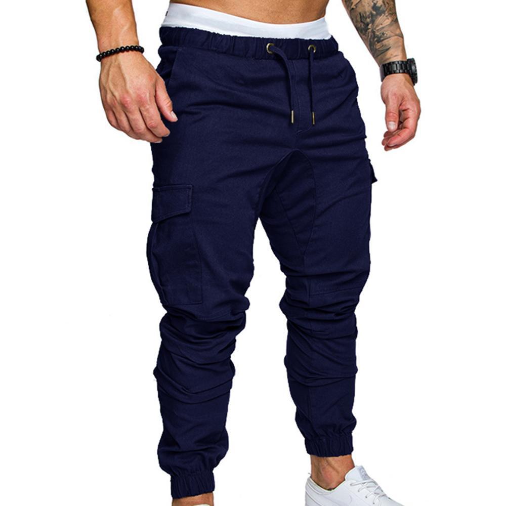 Compre Pantalones Hombre Jogger De Algodón Ropa De Hombres 2018 Hip Hop  Streetwear Joggers Pantalon Hombre Pantalones De Chándal Pantalon Homme  Cargo A ... 75b80329f610
