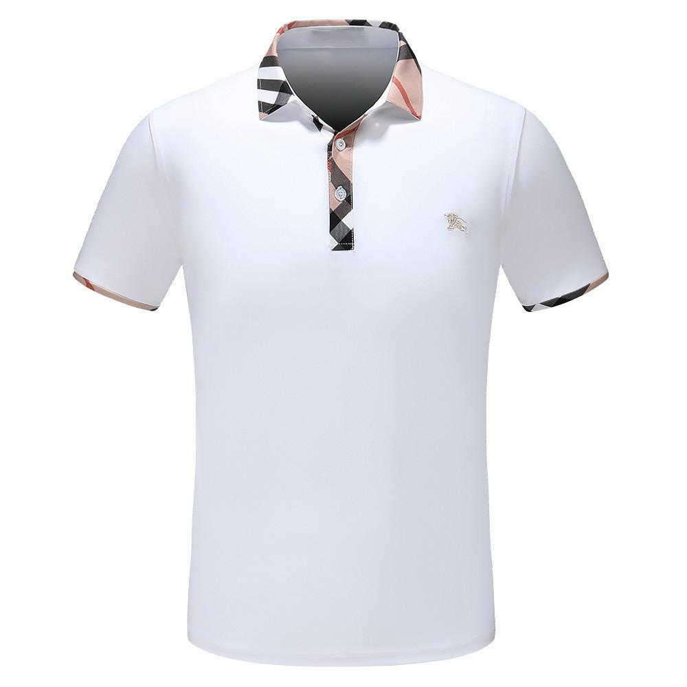 Mens Polo Shirts Print Designs Wear Breathable Tide Brand T The