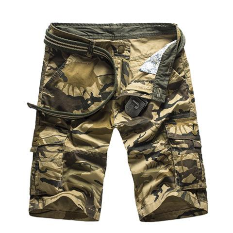 Casual Shorts Camouflage Camo Cargo Shorts Men 2019 Cotton Mens Casual Shorts Male Loose Work Shorts Man Military Short Pants Plus Size 4xl
