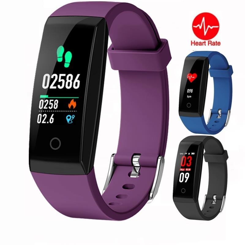 New Colorful Screen Smart Band IP67 Waterproof Sport Wristband Heart Rate Monitor Fitness Tracker Smart Bracelet for Android and IOS Phone