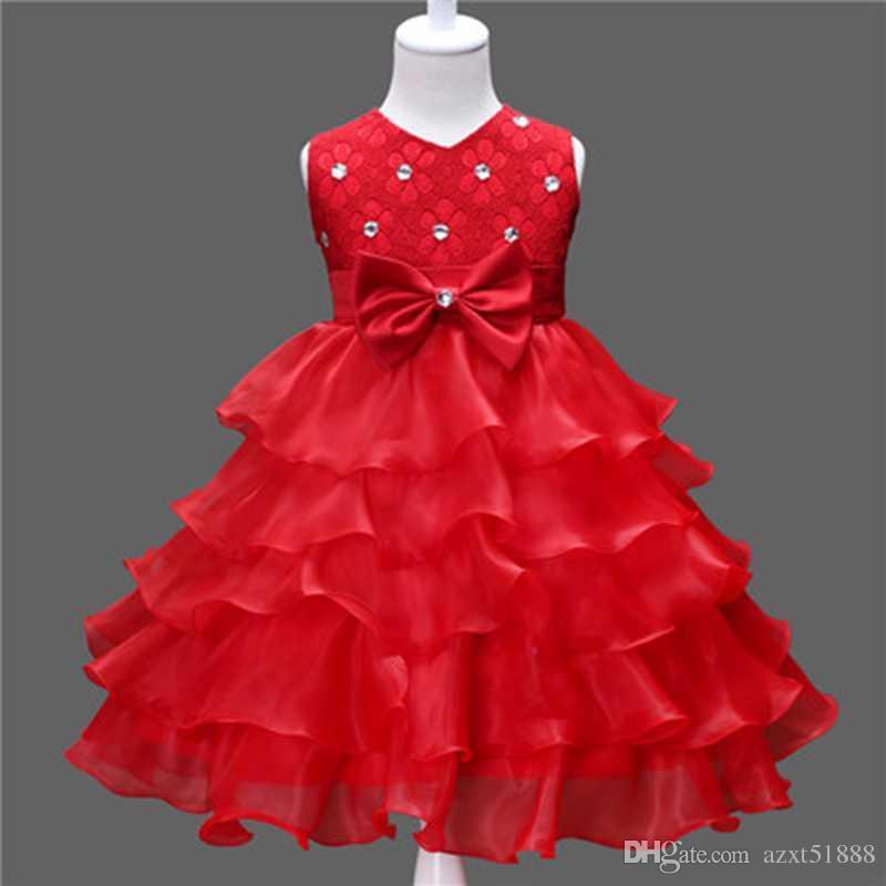 c8483288f3bb9 Acheter Costume De Cérémonie De Mariage Robe De Bal Pour La Petite Fille 3  8 Ans Robe Plissée Adolescentes Tenues De Dîner Formelle Vêtements  D occasion De ...