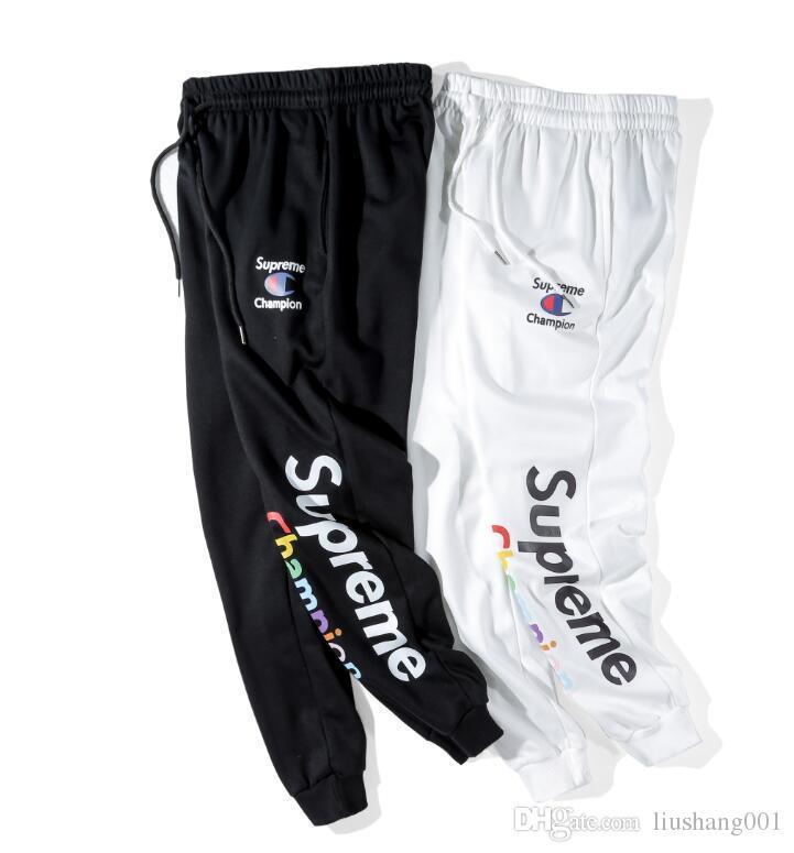 2018 New Men s Champion Men s Sports Pants Ladies Luxury Designer Sports  Pants Warm Hip-hop Style Couple Models Sweatpants Men s Pants Online Men s  ... 80a97d0dd23b