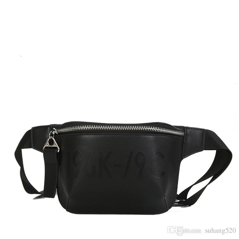 2018 PU Leather Black Waist Bags Women Designer Fanny Pack Fashion Belt Bag  Female Mini Waist Pack Messenger Bolsa New Coin Bag Black Handbags Lunch  Bags ... 6ecf639bde