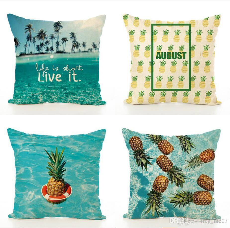 wholesale 45 45 decorative tropical pineapple waterlife cushion rh dhgate com