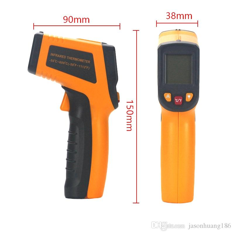 Laser IR Infrared Thermometer Digital LCD Display Pyrometer -50~600C -58~1112F Replace GM550