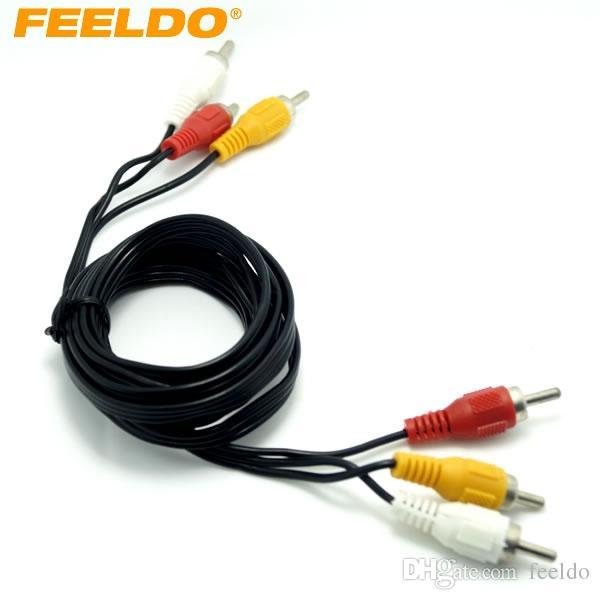 feeldo car 150cm 3 rca male to 3 rca male audio video rca connector rh dhgate com