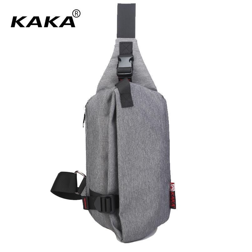 KAKA Fashion 2017 Unisex Men Women Messenger Bags Chest packs Cross Body Bags High Quality Shoulder Bags for Ipad Mini