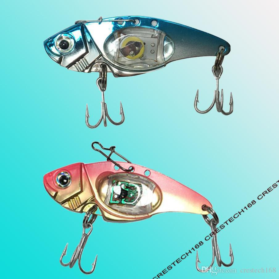 LED fishing lures LED Lighted Bait Flasher Saltwater Freshwater Bass Halibut Walleye Lures Attractant Offshore Deep Sea Dropping
