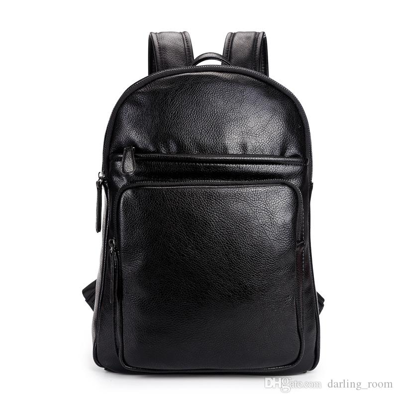 f550dd67501 Classic Wax Oil Leather Men's Backpacks Male Outdoor Travel Bag School Bag  for Teenage Boys Vinatge Laptop Backpack Style