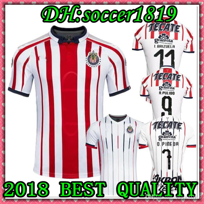 México Primera División De México 18 19 MEXICO Classic Club Chivas De  Guadalajara Hogar Lejos Camiseta De Fútbol 2018 A.PULIDO Fútbol Camisetas  Camisa Kit ... 68b3fb0f7bb00