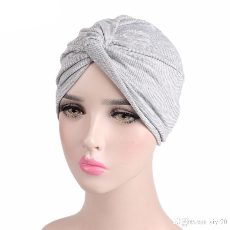 Fashion Strech Chemo Sleep Turban Headwear Scarf Beanie Cap Hat For Cancer  Patient Hair Loss Accessories Knitted Hats Knit Cap From Yiyi90 d7758ecfbab