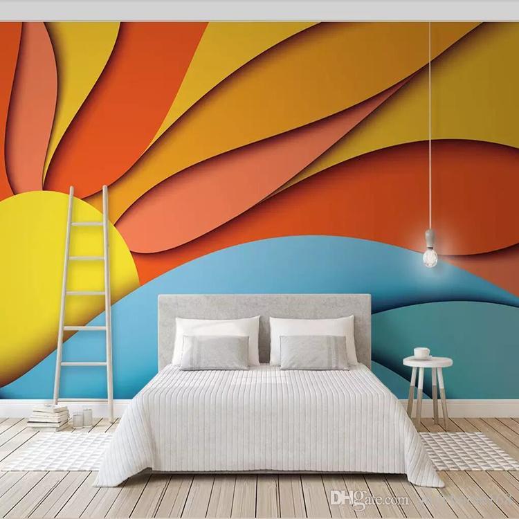3d nordic geometric art wallpaper mural modern minimalist living rh dhgate com