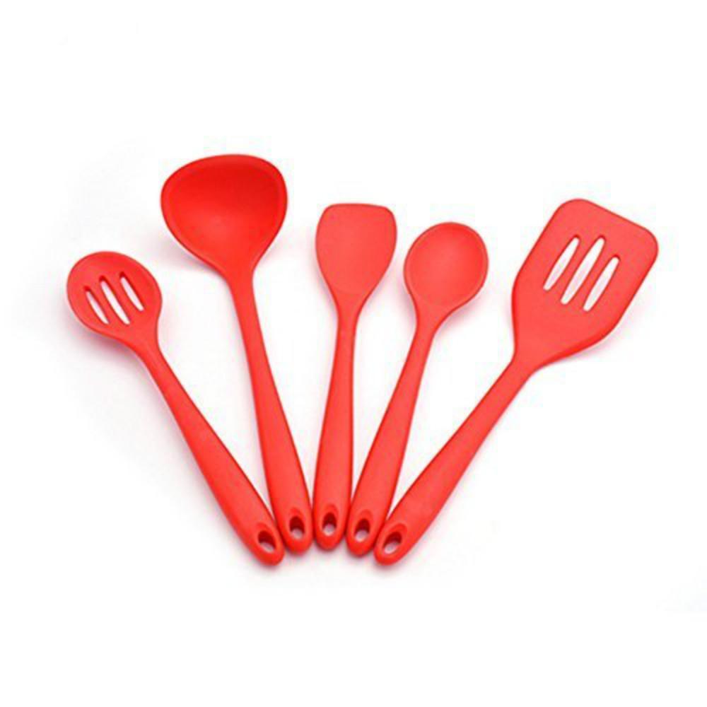 Premium Silicone Kitchen Utensil Set Non Stick Heat Resistant Pastry  Cooking Sets Baking Brush Spatulas Diy Gadget Set Red Kitchenaid Bakeware  Kitchenaid ...