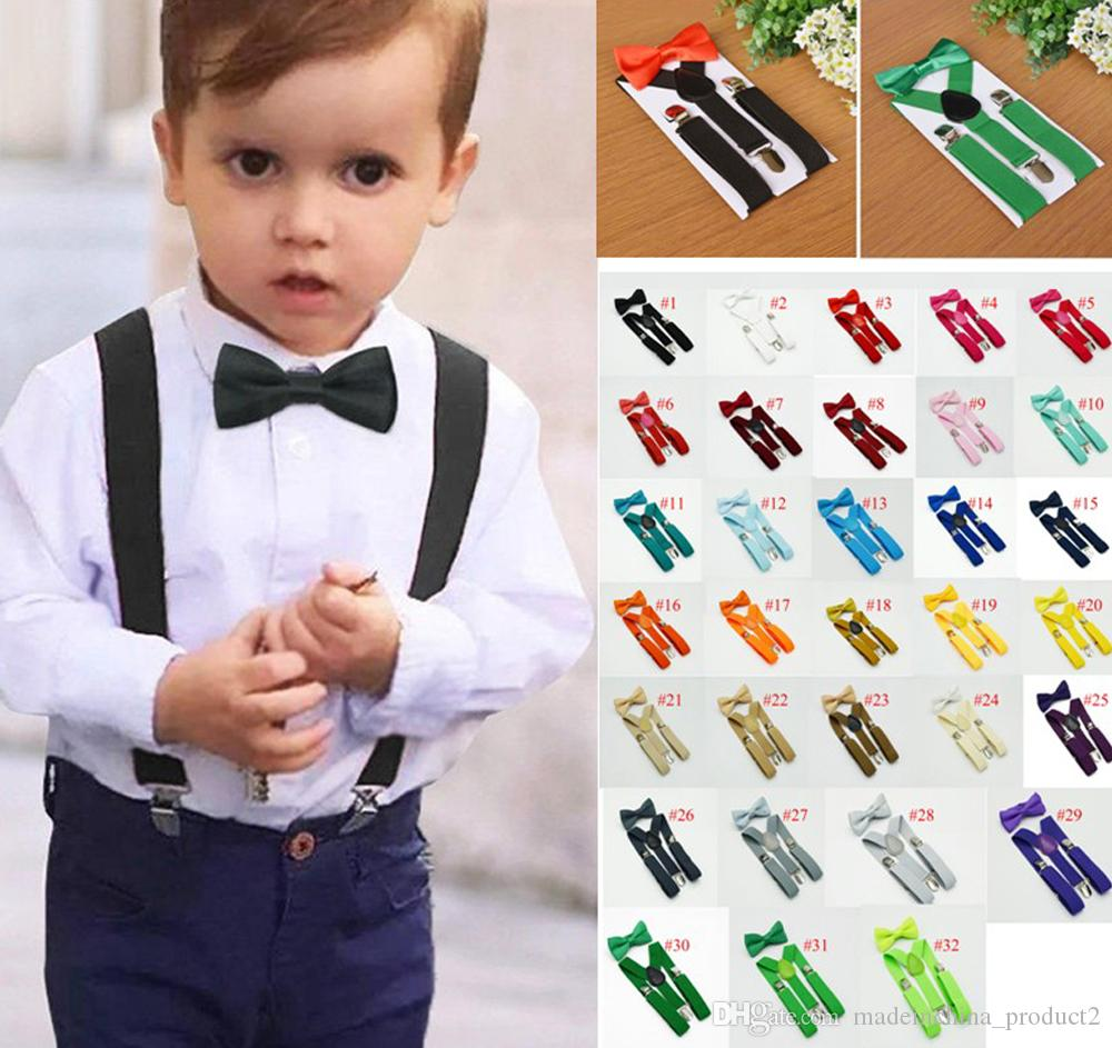 1bc9cc2c9062 2019 Kids Suspenders Bow Tie Set For 1 10T Baby Braces Elastic Y Back Boys  Girls Suspenders Accessories From Madeinchina_product2, $1.71 | DHgate.Com