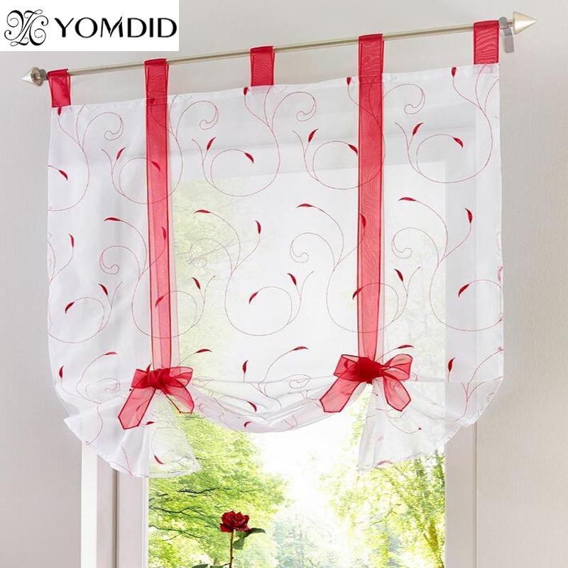 2019 embroidery roman curtain floral voile sheer curtains for rh dhgate com