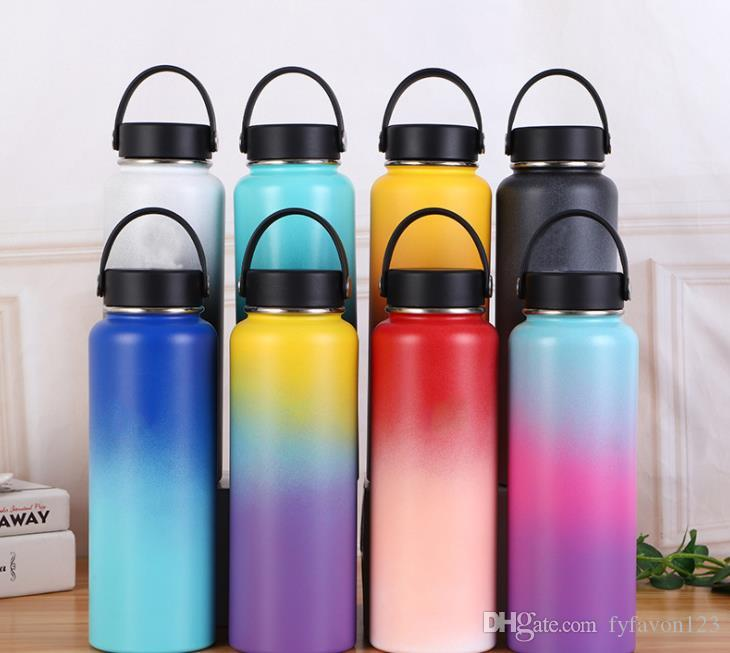 gradient stainless steel tumblers water bottle 40oz vacuum insulated