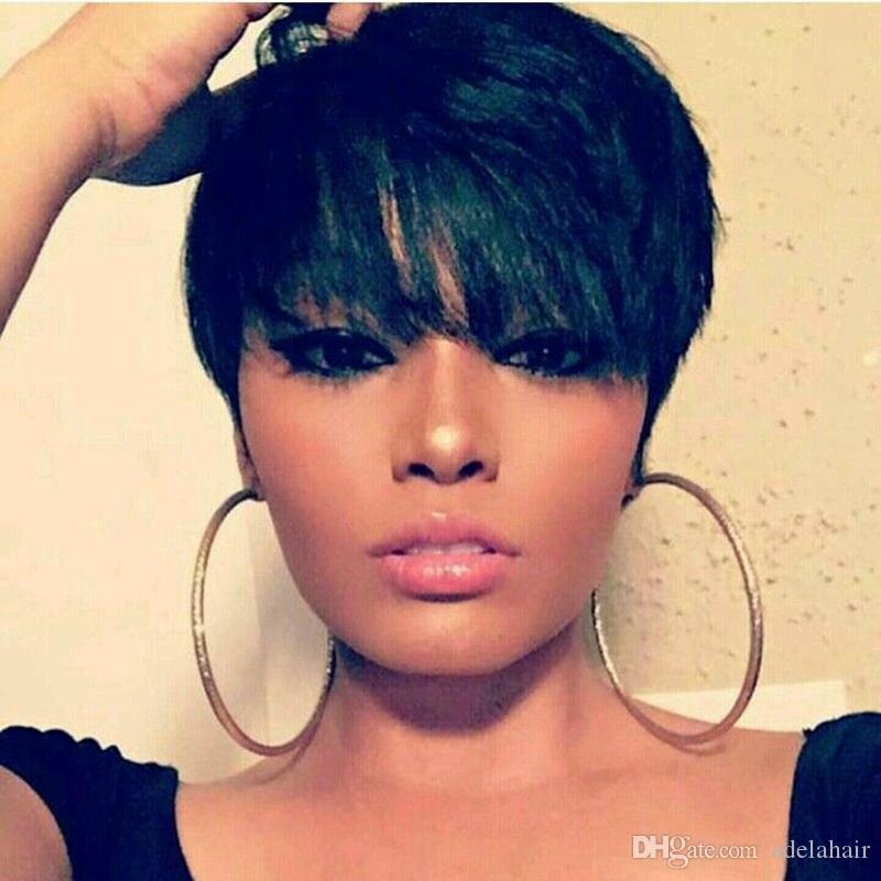 Human Hair Wigs With Baby Hair New Arrival Cheap Pixie Cut Short Lace Front  Wig For Black Women Best Indian Hair Wigs Synthetic Full Lace Wigs With  Baby ... 66bbaedde