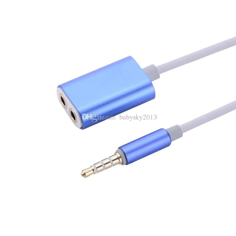 Ses Kablosu Splitter 1 Erkek 2 Kadın Ses kulaklık Splitter Adaptörü için 3.5mm Çift Jack Splitter Kablo iPod iPhone 7 6 5 Mp3 Mp