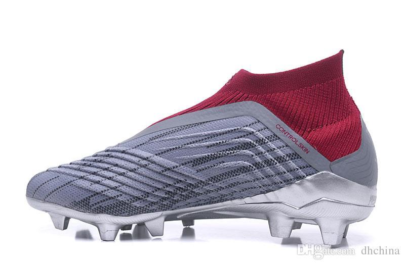 00b5de3218fa1 Compre Nuevos Zapatos 2018 Predator 18 + X Pogba Soccer Shoes FG Silver  Grey Color High Quality Wholesale Sports FG Zapatos De Fútbol US Tamaño 6  11.5 A ...