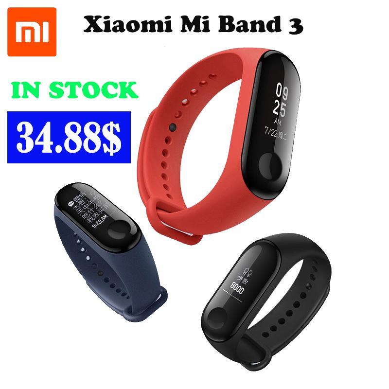Original Xiao Mi Mi Band 3 Nfc Version 0.78 oled Großen Touchscreen 2018 Neue Smart Armbänder Armband Intelligente Armbänder Tragbare Geräte