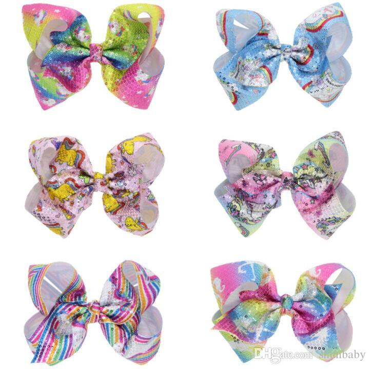 14bf9bd759dc6 Kid Christmas Large Glitter Sequins BowKnot Hair Clips For Girls ...
