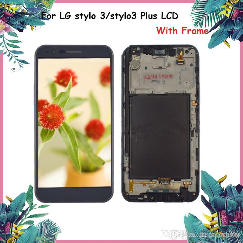 LCD display for Screen Touch Assembly Digitizer LCD for LG stylo 3 & stylo  3 Plus Grade AAA Quality No Dead Pixel DHL Free