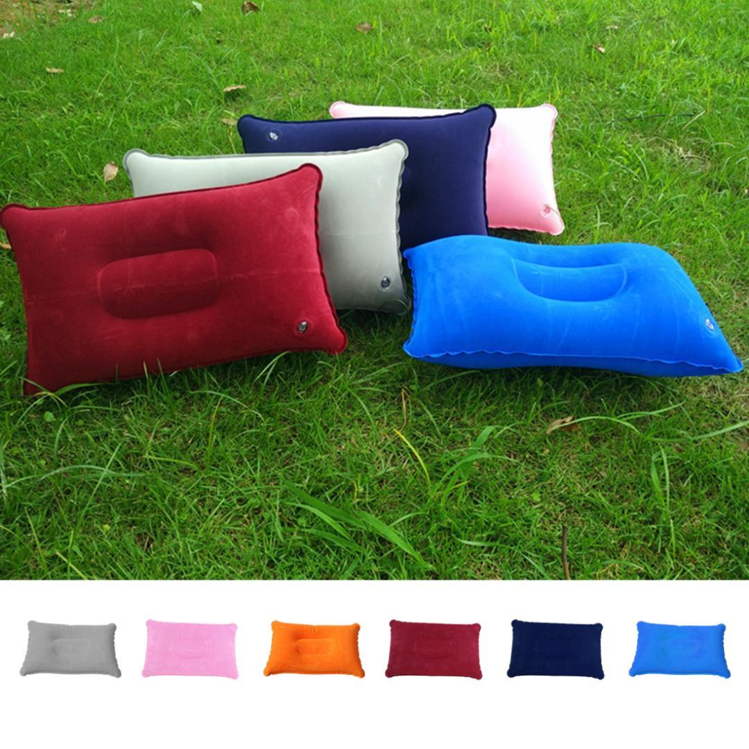 hot inflatable portable outdoor air pillow double sided flocking rh dhgate com