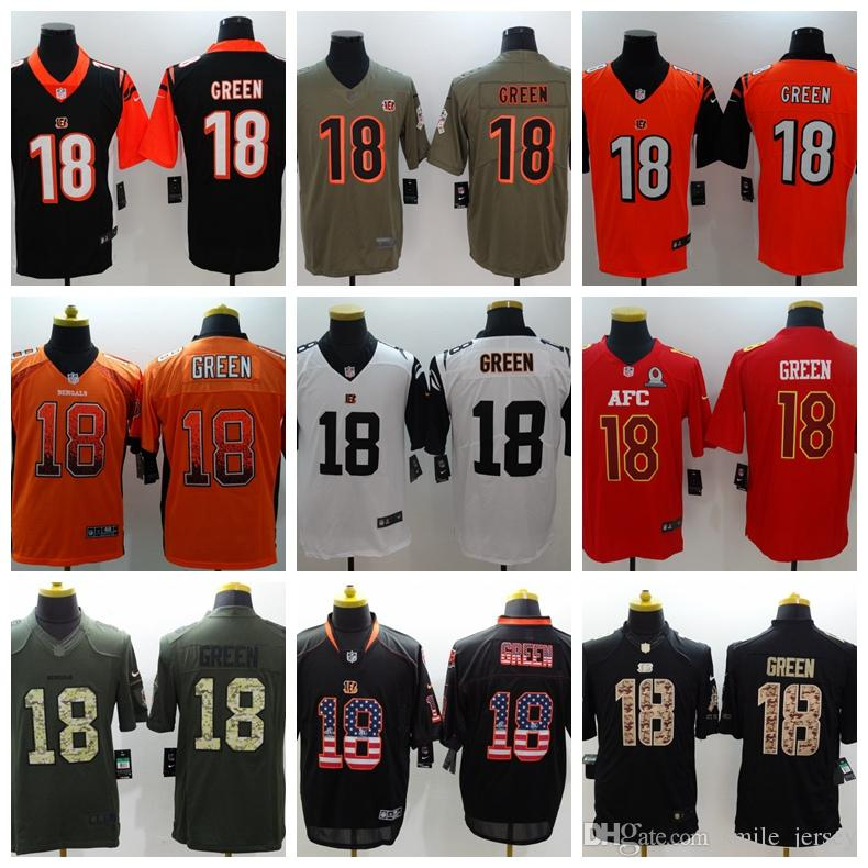 2018 2019 New Mens 18 A.J. Green Cincinnati Jersey Bengals Football Jersey  100% Stitched Embroidery Bengals A.J. Green Color Rush Football Shirt From  ... 7416f78546