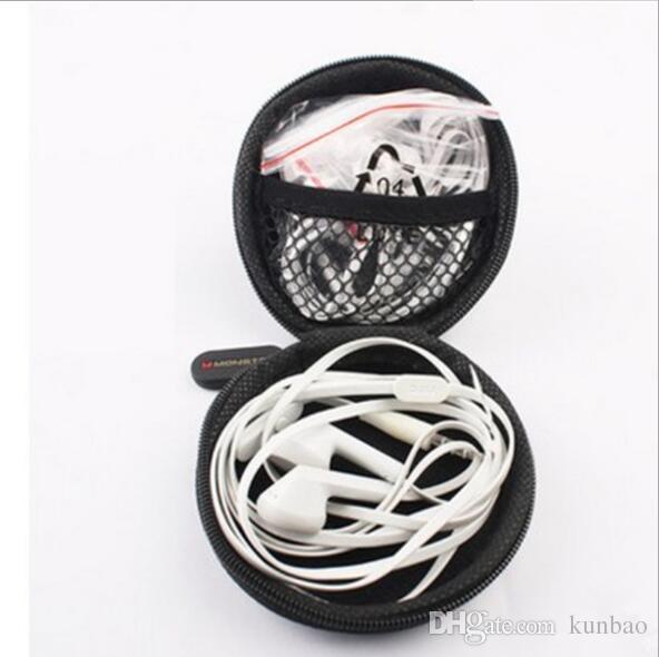Custodia il trasporto di auricolari Custodia auricolari auricolari Custodia cavo portachiavi con cerniera USB Mini Custodia con cerniera 100 pezzi senza confezione