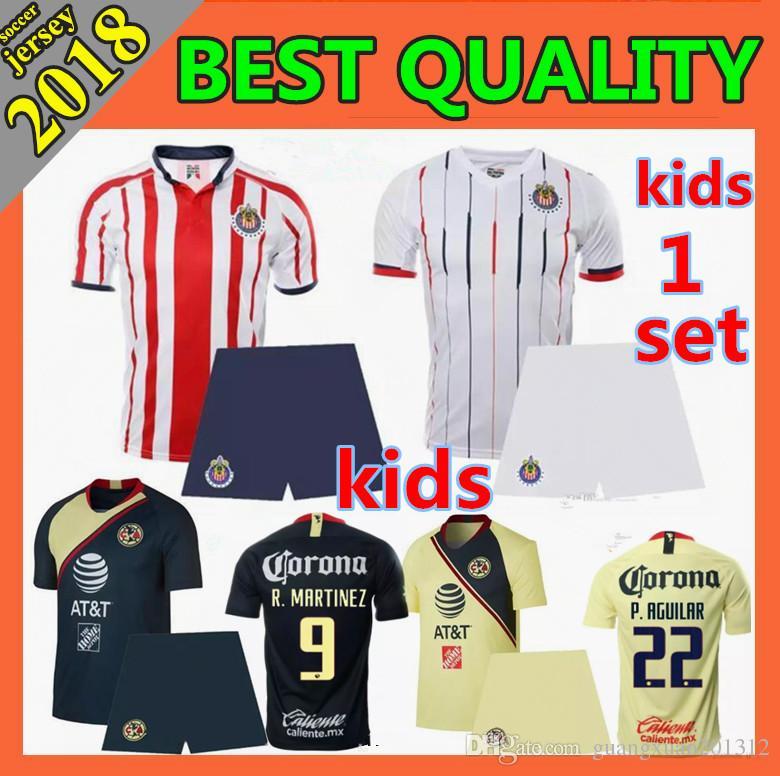 092abfd4e02 2019 2018 LIGA MX Club America Soccer Jerseys O.PERALTA I.RENATO 18 19  Chivas De Guadalajara Mexico Home Away Football Shirt Kids Kit From  Guangxuan201312, ...