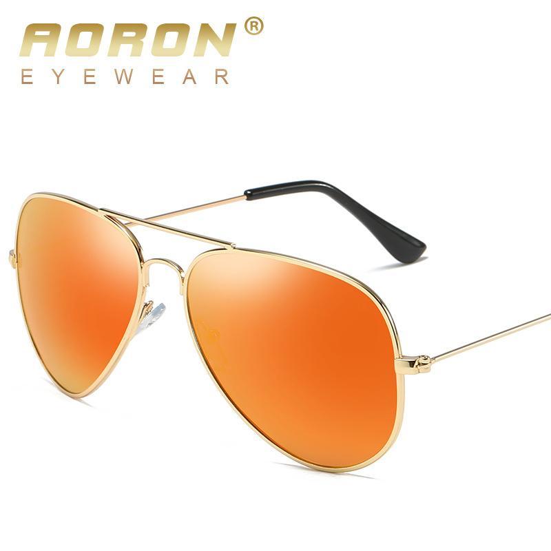 5d5ee45868790 Compre Aoron Retro Óculos De Sol Óculos Polarizados Mulheres Homens De Luxo  Do Vintage Óculos De Condução Unisex Moldura De Metal Oculos De Sol Feminino  De ...